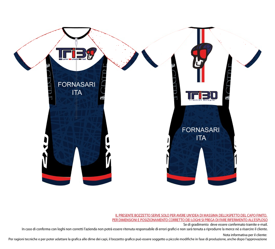 BODY TRIATHLON UOMO TRIBO manica lunga