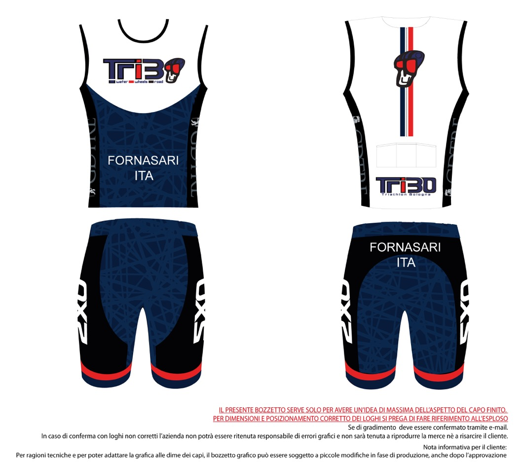 BODY TRIATHLON UOMO TRIBO spezzato